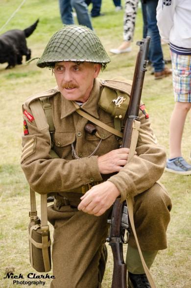 Halifax Show - WWII Sergeant kneeling